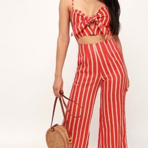 Faithfull the Brand Tomas Pants Mazur Stripe Red S